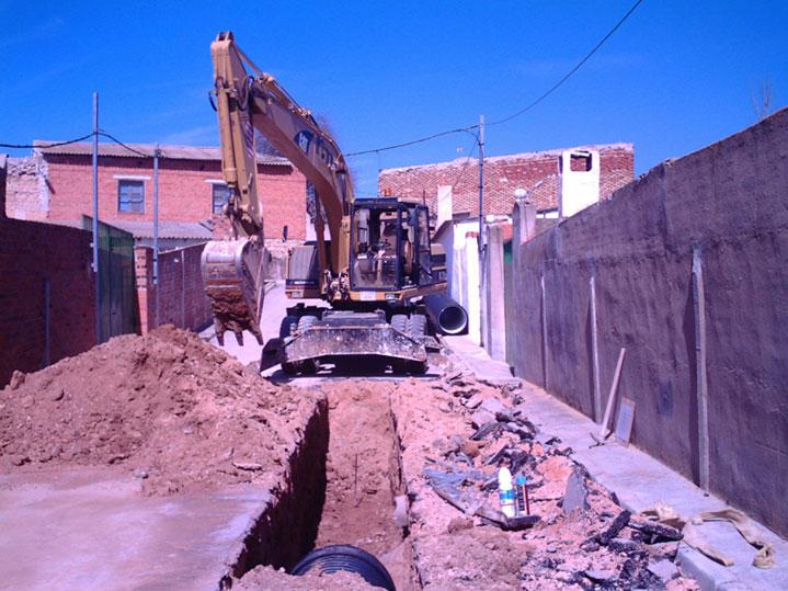 Excavaciones para zanjeo