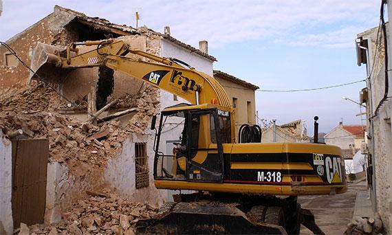 Derribos y demoliciones en Madrid y Toledo
